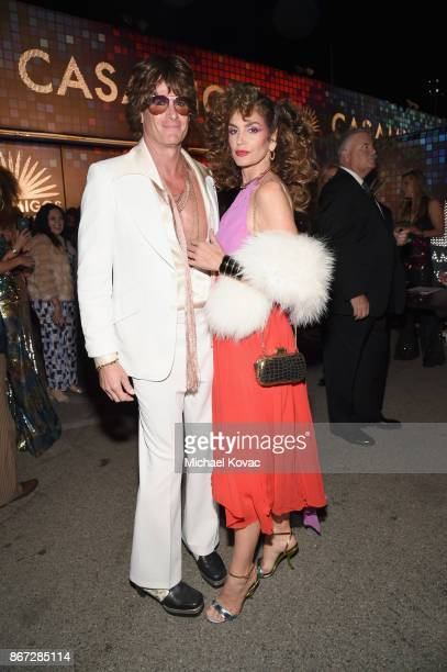 Rande Gerber and Cindy Crawford attend Casamigos Halloween Party on October 27 2017 in Los Angeles California