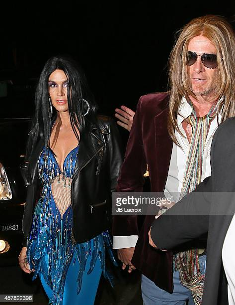 Rande Gerber and Cindy Crawford attend the Casamigos Annual Halloween Party on October 24, 2014 in Los Angeles, California.