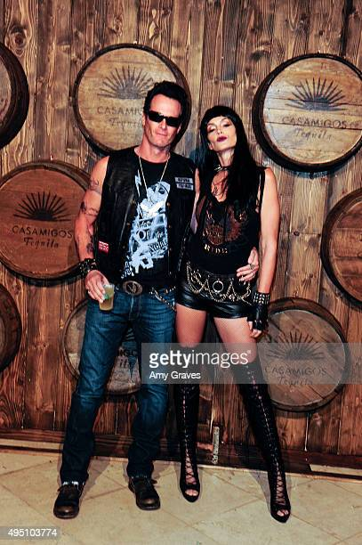 Rande Gerber and Cindy Crawford attend the Casamigos Tequila Halloween Party Brought to you by Those Who Drink It at a private residence on October...
