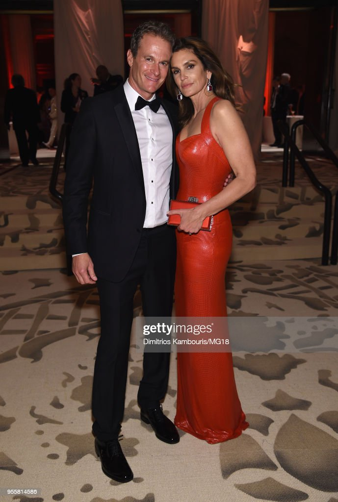 Rande Gerber and Cindy Crawford attend the Heavenly Bodies: Fashion & The Catholic Imagination Costume Institute Gala at The Metropolitan Museum of Art on May 7, 2018 in New York City.