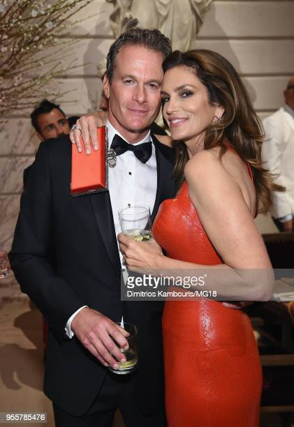 Rande Gerber and Cindy Crawford attends the Heavenly Bodies: Fashion & The Catholic Imagination Costume Institute Gala at The Metropolitan Museum of...