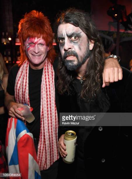 Rande Gerber and Dave Grohl attend the Casamigos Halloween Party on October 26 2018 in Beverly Hills California
