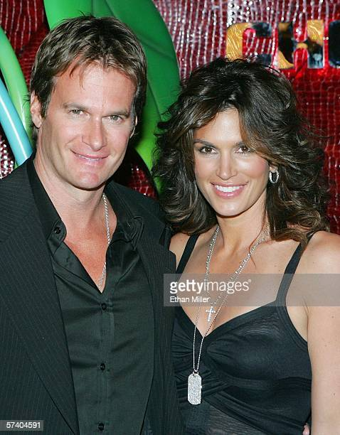 Rande Gerber and his wife model Cindy Crawford arrive at the grand opening of Gerber's Cherry Nightclub inside the Red Rock Casino April 22 2006 in...