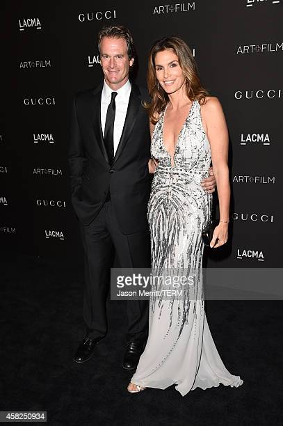 Rande Gerber and model Cindy Crawford attend the 2014 LACMA Art Film Gala honoring Barbara Kruger and Quentin Tarantino presented by Gucci at LACMA...