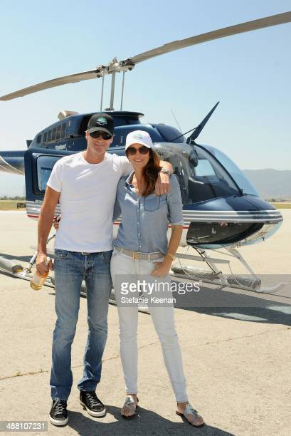 Rande Gerber and model/actress Cindy Crawford attend The Horsemen Flight Team Event Hosted By Dan Friedkin And Lauren Sanchez Whitesell sponsored by...