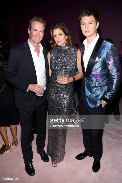 Rande Gerber Cindy Crawford and Ansel Elgort attend the Tom Ford Spring/Summer 2018 Runway Show After Party on September 6 2017 in New York City