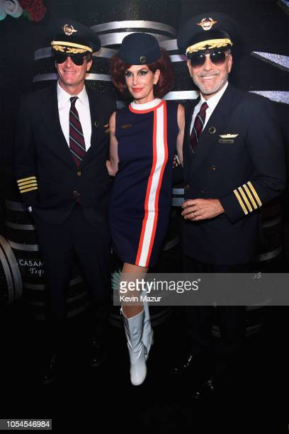 Rande Gerber, Cindy Crawford and George Clooney attend Casamigos Halloween party at CATCH Las Vegas at ARIA Resort & Casino on October 27, 2018 in...