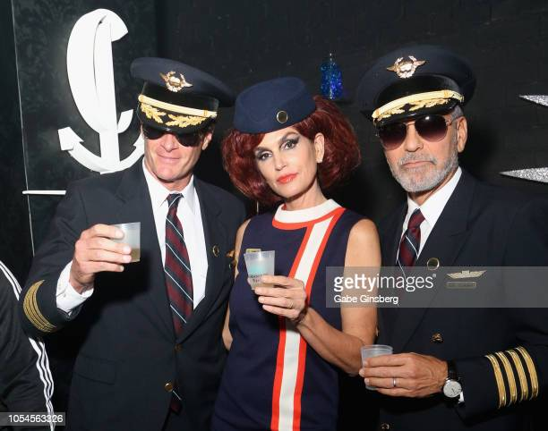 Rande Gerber Cindy Crawford and George Clooney attend Casamigos CATCH Halloween party at CATCH Las Vegas in ARIA Resort Casino on October 27 2018 in...
