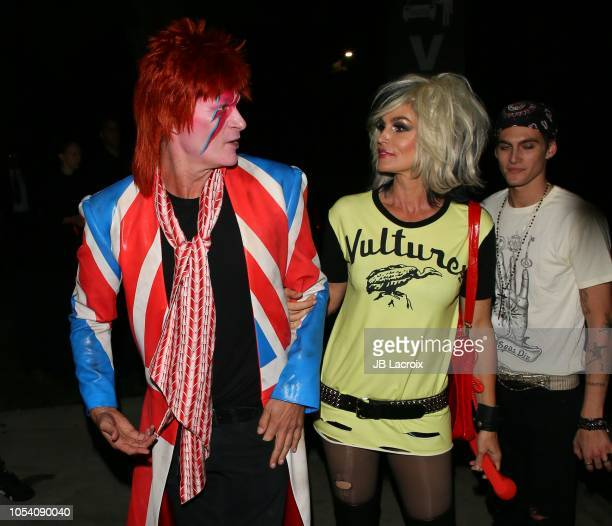 Rande Gerber, Cindy Crawford and Presley Gerber are seen on October 26, 2018 in Los Angeles, California.