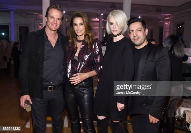 Rande Gerber Cindy Crawford Coco Rocha and James Conran attend Marc Jacobs Beauty Celebrates Kaia Gerber on February 15 2017 in New York City