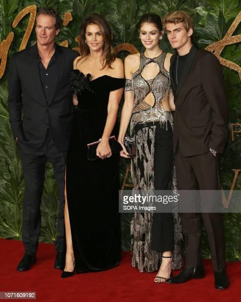 Rande Gerber Cindy Crawford Kaia Gerber and Presley Gerber arrive at The Fashion Awards 2018 In Partnership With Swarovski at the Royal Albert Hall