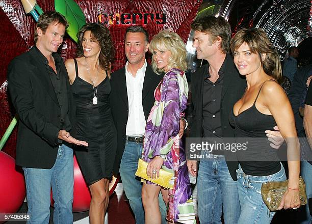 Rande Gerber his wife model Cindy Crawford Station Casinos Chief Executive Frank Fertitta III and his wife Jill Fertitta actor Harry Hamlin and his...
