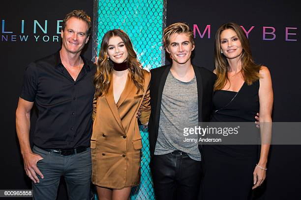 Rande Gerber Kaia Gerber Presley Gerber and Cindy Crawford attend Maybelline New York Celebrates NYFW on September 8 2016 in New York City
