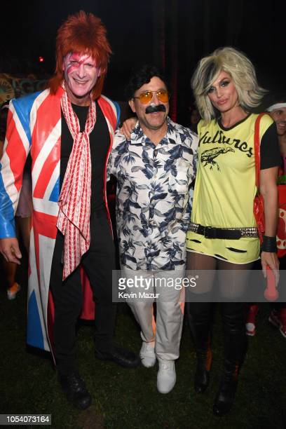 Rande Gerber, Mike Meldman, and Cindy Crawford attend the Casamigos Halloween Party on October 26, 2018 in Beverly Hills, California.