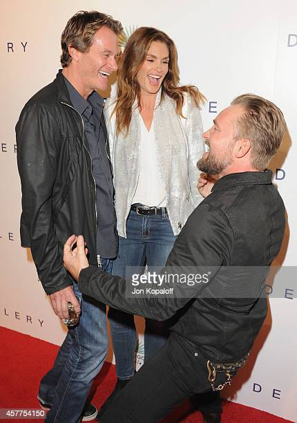 Rande Gerber model Cindy Crawford and photographer Brian Bowen Smith arrive at De Re Gallery Casamigos Host The Opening Of First Ever Solo Show By...