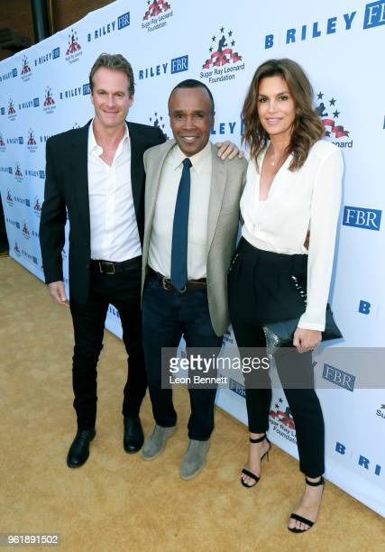 Rande Gerber Sugar Ray Leonard and Cindy Crawford attend the Sugar Ray Leonard Foundation 9th Annual Big Fighters Big Cause Charity Boxing Night...
