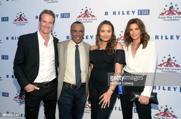 Rande Gerber Sugar Ray Leonard Camille Leonard and Cindy Crawford attend the 9th Annual Big Fighters Big Cause Charity Boxing Night Benefiting The...
