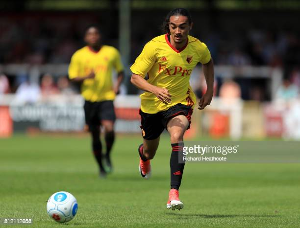 Randell Williams of Watford in action during the preseason friendly match between Woking and Watford U23 at the Laithwaite Community Stadium on July...