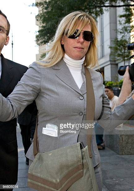 Randi Collotta leaves Manhattan federal court in New York US following a sentencing hearing on Thursday Oct 4 2007 Collotta a former Morgan Stanley...