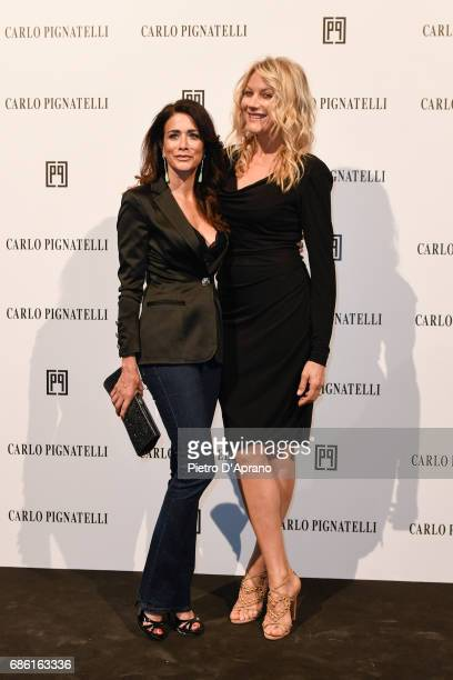 Randi Ingerman Natasha Stefanenko attends the Carlo Pignatelli Haute Couture fashion show on May 20 2017 in Milan Italy
