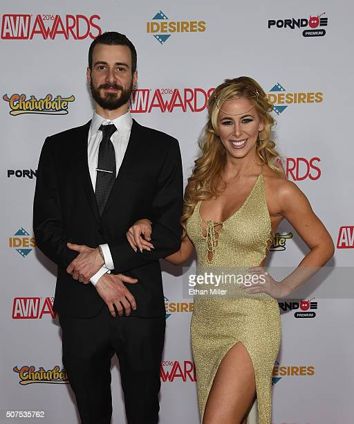 Randi Marsh and adult film actress Cherie DeVille attend the 2016 Adult Video News Awards at the Hard Rock Hotel & Casino on January 23, 2016 in Las...