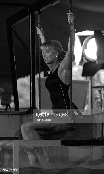 Randi Oakes attends the taping of Battle of the Network Stars on April 23 1983 at Pepperdine University in Malibu California