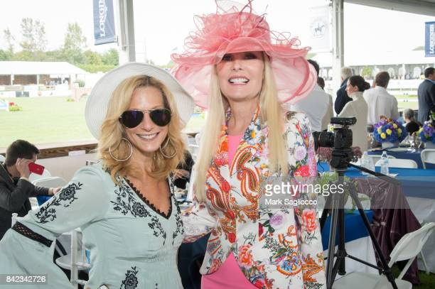 Randi Schatz and Colleen Rein attend the Hamptons Magazine Grand Prix celebration at The Hampton Classic at Hampton Classic Horse Show grounds on...