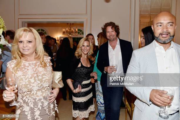 Randi Schatz and Tomas Hill attend Katrina and Don Peebles Host NY Mission Society Summer Cocktails at Private Residence on July 7 2017 in...