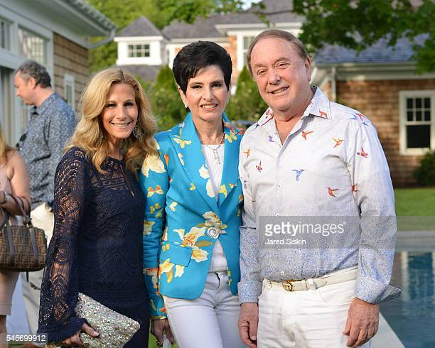 Randi Schatz, Arlene Lazare and Allan Lazare attend AVENUE On The Beach Celebrates July Issue at Private Residence on July 8, 2016 in Southampton, NY.