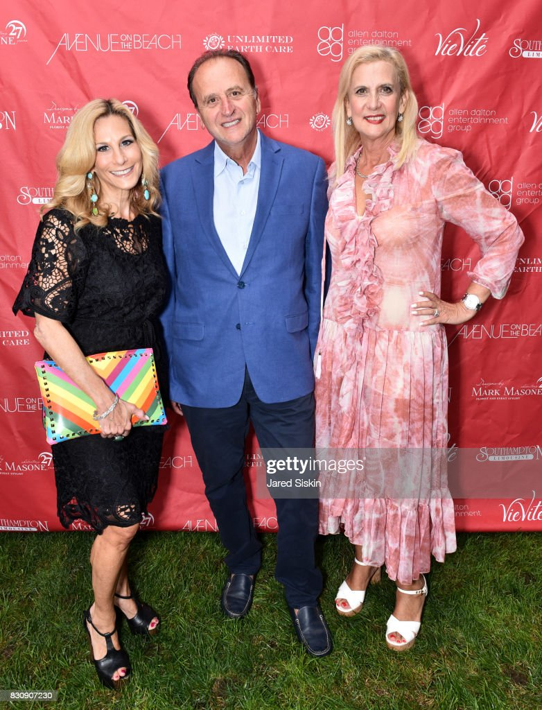 Randi Schatz, Jack Acoco and Ruth Miller attend AVENUE on the Beach's Summer Soiree at The Baker House on August 12, 2017 in East Hampton, New York.