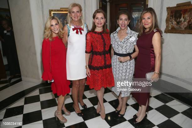 Randi Schatz Ruth Miller Jean Shafiroff Gilda Sacasa and Maria Fishel attend Jean Shafiroff Hosts Cocktails For New York Women's Foundation at...