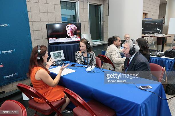 Randi Zuckerberg Business Radio interviews Ana Kasparian Producer of the Young Turks and Dan Rather on SiriusXM on July 27 2016 in Philadelphia...