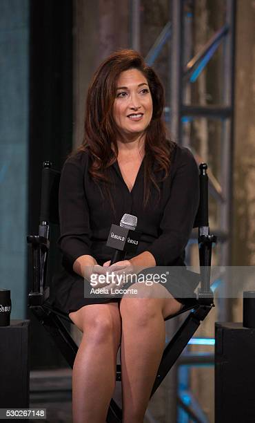Randi Zuckerberg discusses Celebrate Working Mothers With Alicia Ybarboat at AOL Studios In New York on May 10 2016 in New York City