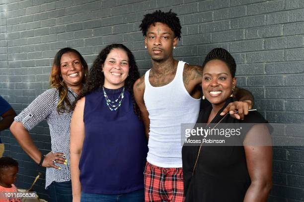 Randie BrooksTameana Lambert recording artist 21 Savage and Jacquie Gray attend 21 Savage And His Leading By Example Foundation Host 3rd Annual Issa...