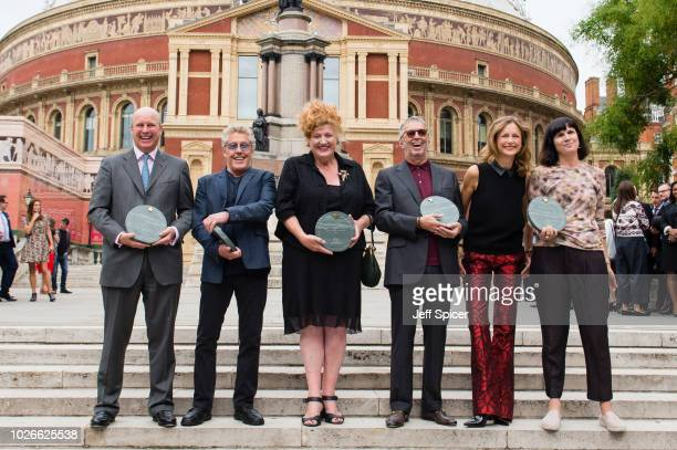 Randolph Churchill Roger Daltrey Eve Ferret Eric Clapton Katie Derham and Catherine Mayer attend the launch of the Royal Albert Hall 'Walk Of Fame'...
