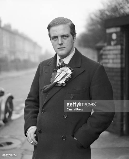 Randolph Churchill , son of Winston Churchill, and the Conservative candidate for Wavertree in Liverpool, on the eve of the election, 5th February...