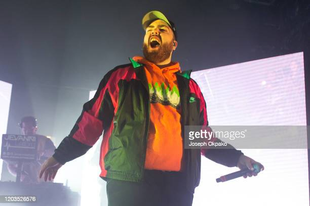 Randolph performs with KSI on stage at O2 Academy Islington on February 1, 2020 in London, England.