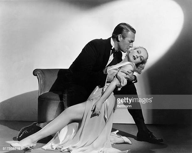 Randolph Scott and Carole Lombard in a publicity shot for the 1933 movie Supernatural
