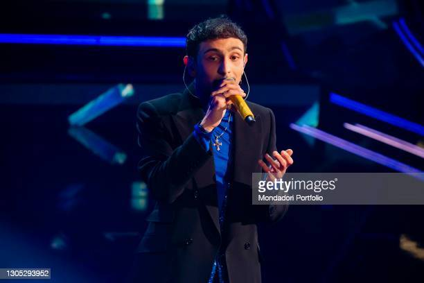 Random at the second evening of the 71 Sanremo Music Festival. Sanremo , March 3rd, 2021