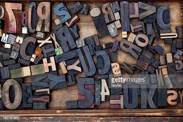 random letterpress - typography stock photos and pictures