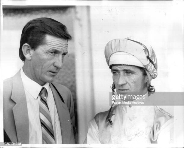 Randwick Race 1 Jockey M Johnston and trainer VP SutherlandSuccesses of 198687 Trainer Paul Sutherlnad and jockey Malcolm JohnstonJune 20 1987