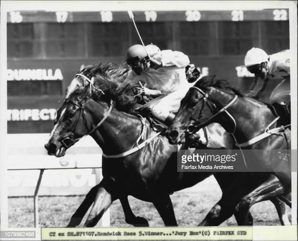 Randwick Race 5. Winner...'Jury Box'. November 7, 1987. .