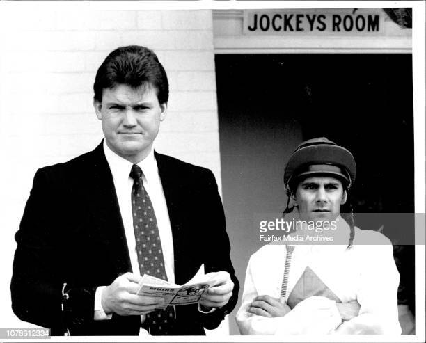 Personalities Race 1 Finish strip Jockey J Marshall and Anthony Cummings May 28 1988