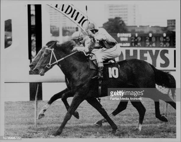Race 8 - Winner ... No. 10, Capital Backing, No. 8 Mardi Gras. Jockey - No. 10, K. Moses. No. 8, M. Wickens. May 28, 1988. .