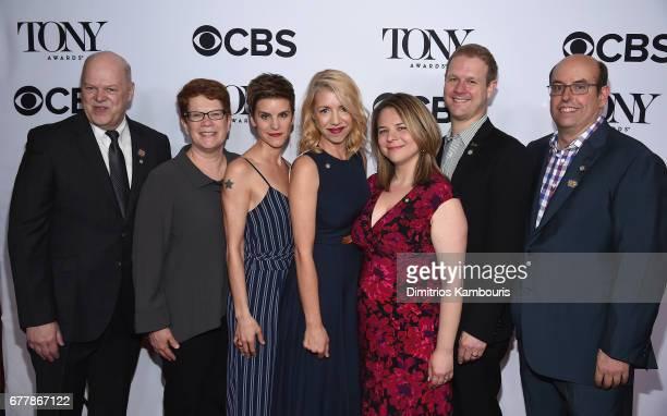 Randy Adams Sue Frost Jenn Colella Kelly Devine Irene Sankoff David Hein and Christopher Ashley attend the 2017 Tony Awards Meet The Nominees Press...