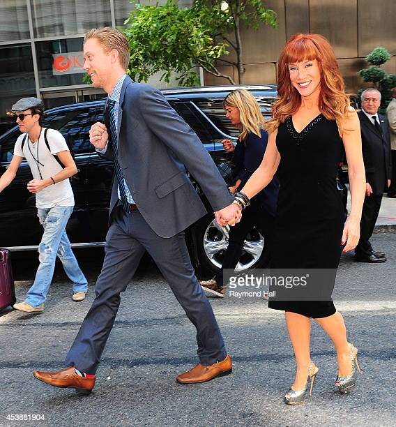 Randy Bick and Kathy Griffin are seen in Soho on August 20 2014 in New York City