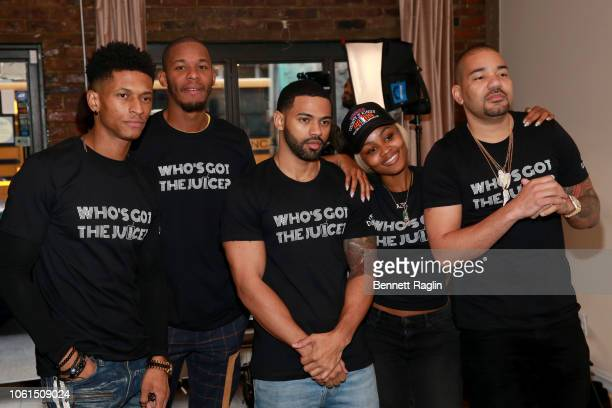 Randy Bowden Perks Baggy Large Azia Toussaint and DJ Envy attend Who's Got the Juice Hustle In Brooklyn on November 14 2018 in the Brooklyn borough...