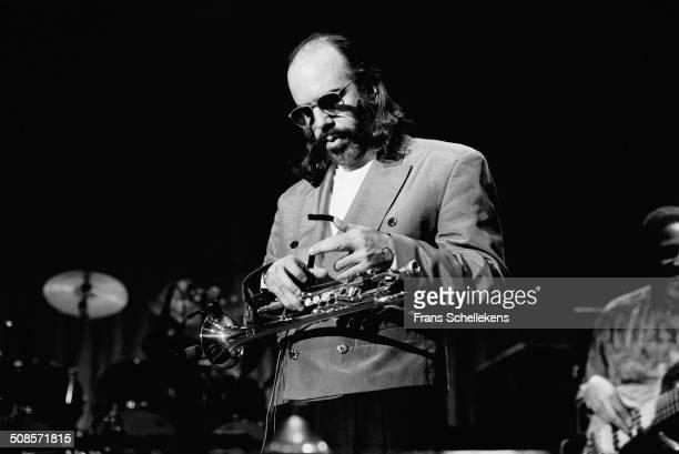 Randy Brecker, trumpet, performs at the Heineken Jazz Festival at the Doelen in Rotterdam, Netherlands on 18th October 1992.