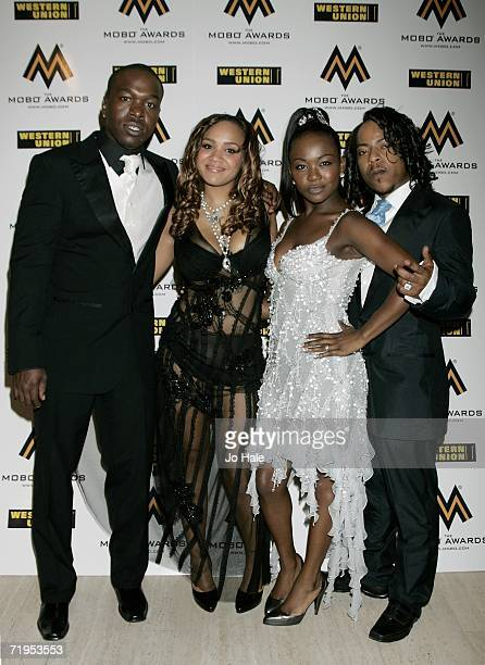 Randy Cherise Nadia and J Rock of Big Brovaz arrive at the MOBO Awards 2006 held at the Royal Albert Hall on September 20th 2006 in London England