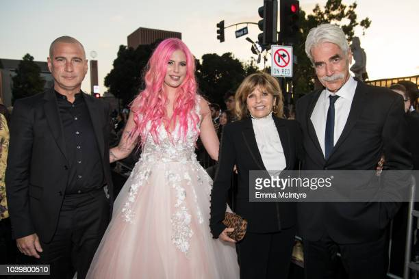 Randy Christopher Cleo Rose Elliott Katharine Ross and Sam Elliott attend the premiere of Warner Bros Pictures' A Star Is Born at The Shrine...